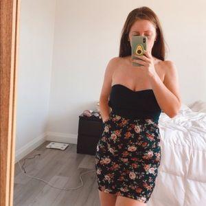 Strapless YDE Floral Dress